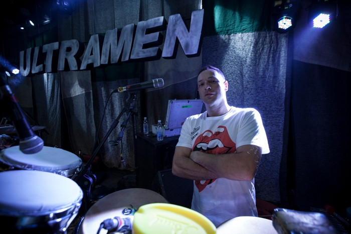 Marcito, percussionista da Ultramen FOTO Raul Krebs | Estúdio Mutante