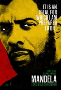 "Poster do novo filme sobre Mandela, ""Long Walk to Freedom""."