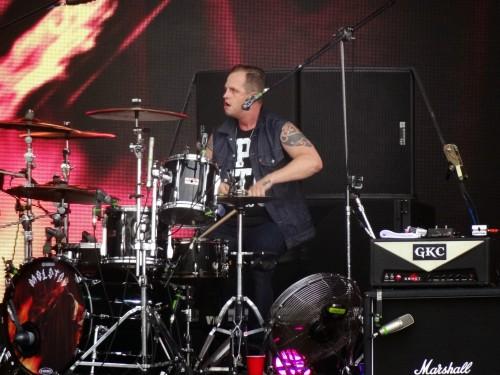 Randy na bateria...
